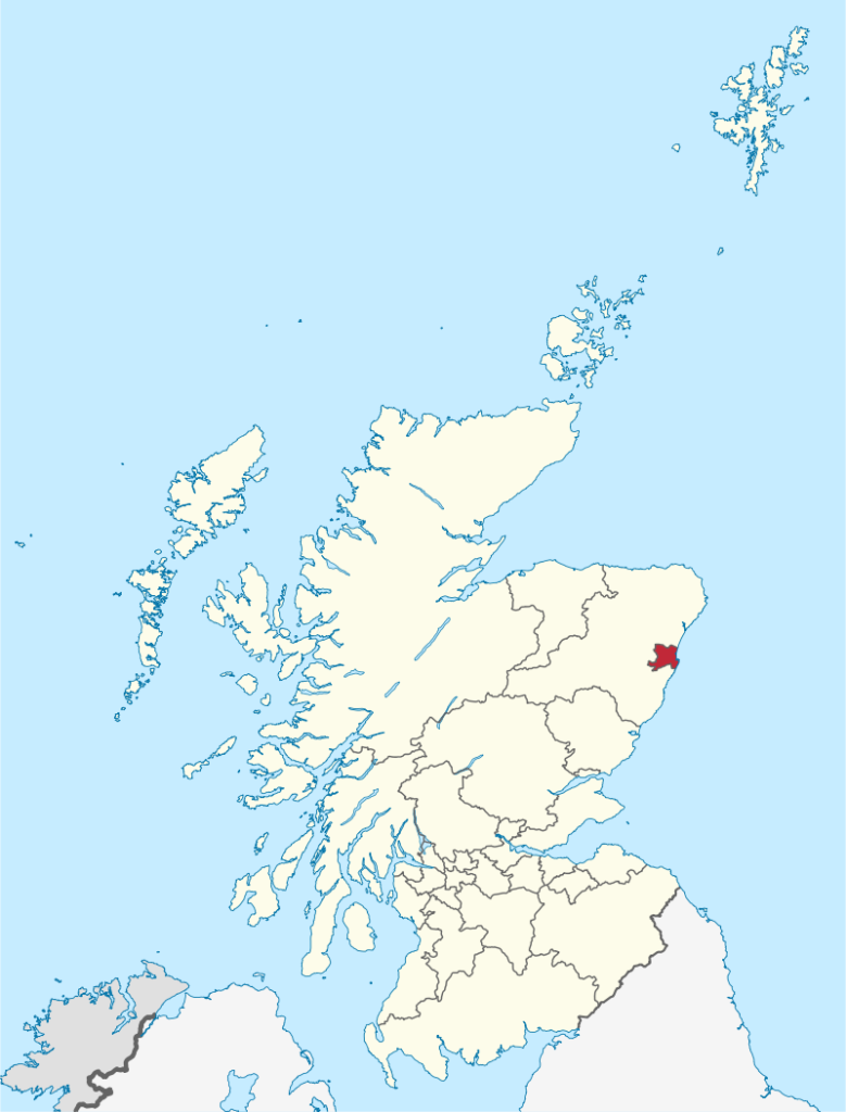 The location of Aberdeen Escorts