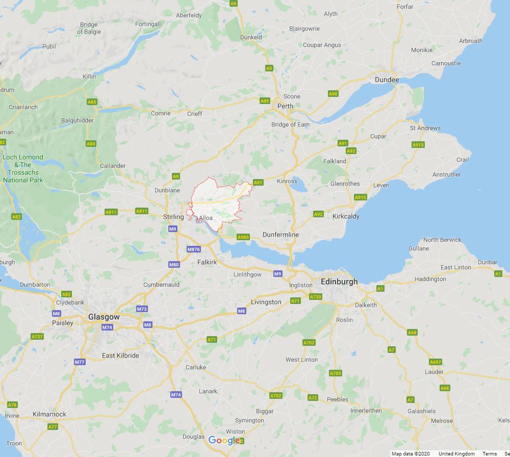Locations of Clackmannshire Escorts