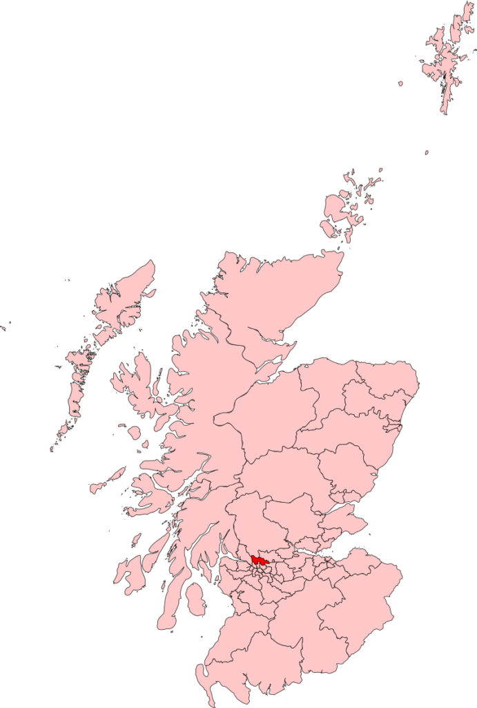Location of East Dunbartonshire Escorts